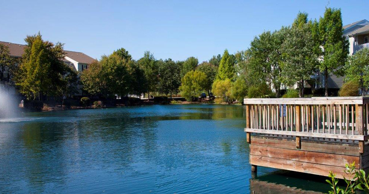 Pristine Pond Landscaping at Abberly Twin Hickory Apartment Homes, Virginia, 23059