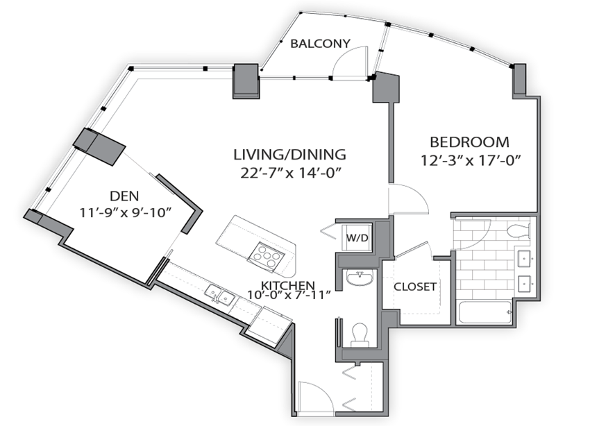 Floor plan at Hubbard Place, Chicago, IL 60654