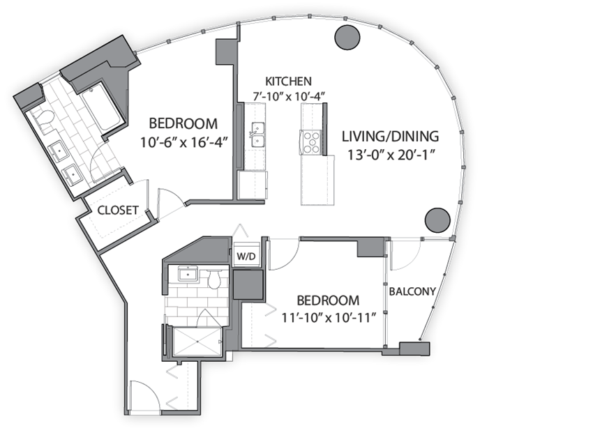 Floor plan at Hubbard Place, Chicago, IL