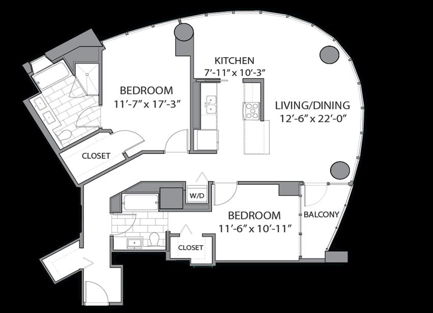 Floor plan at Hubbard Place, Illinois, 60654