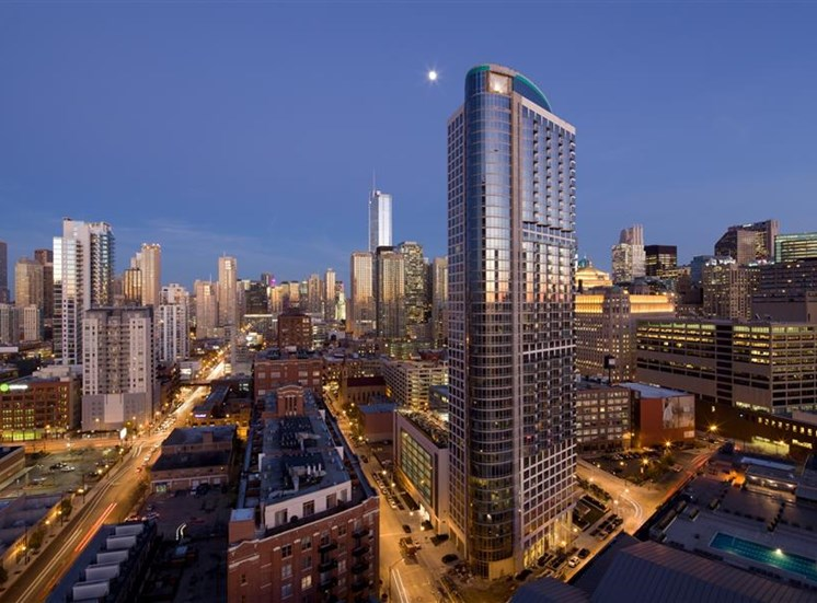 Luxury rental residences at Hubbard Place in Chicago, IL.