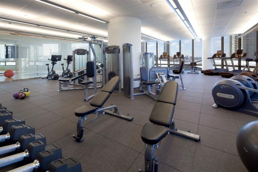 The top-of-the-line fitness equipment in Hubbard Place's fitness center.