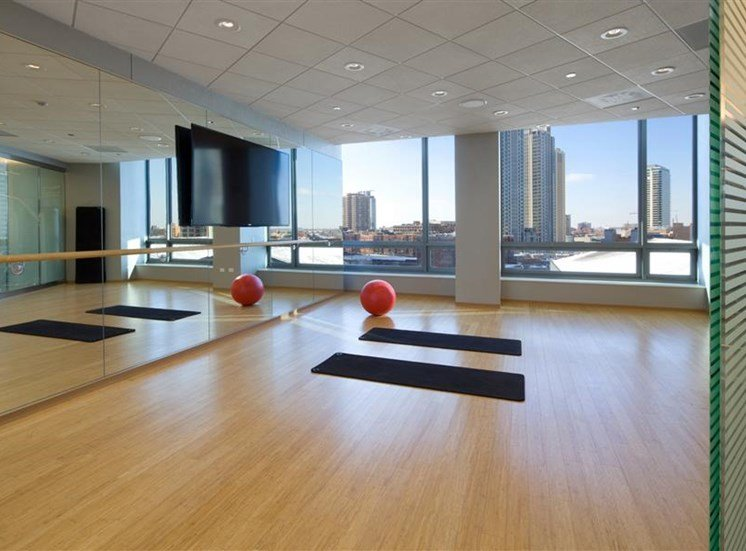 Unwind from your day in the yoga studio at Hubbard Place.