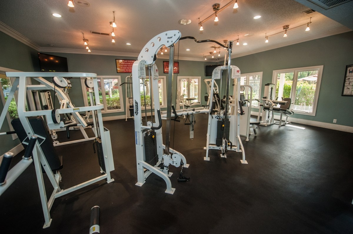Brand new, upgraded fitness center for residents of Grande Oasis in Tampa, FL.