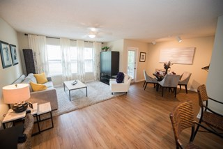 Grande Oasis apartments feature beautiful hardwood floors.