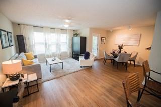 Grande Oasis apartments feature beautiful hardwood floors.