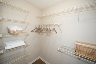 Walk-in closets available in select apartments at Grande Oasis.