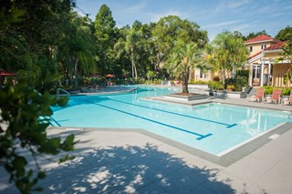 Enjoy the sparkling pools at your new apartment at Grande Oasis.