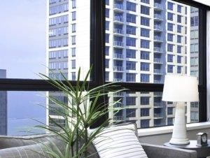 Lake Shore Plaza one bedroom apartment with wall-to-wall carpeting to soothe bare feet.