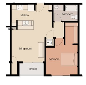 The Spruce (1 Bedroom)