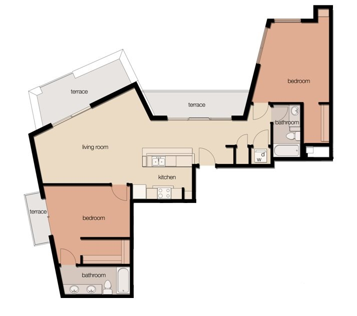 The Sycamore (2 Bedroom) Floor Plan 4