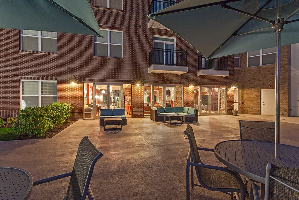 Outdoor Lounge at Penn Circle Apartments in Carmel, IN