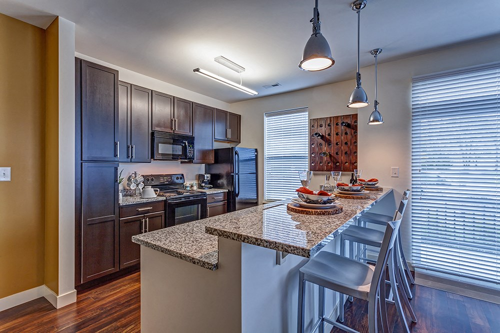 Gourmet Kitchen at Penn Circle Apartments in Carmel, IN