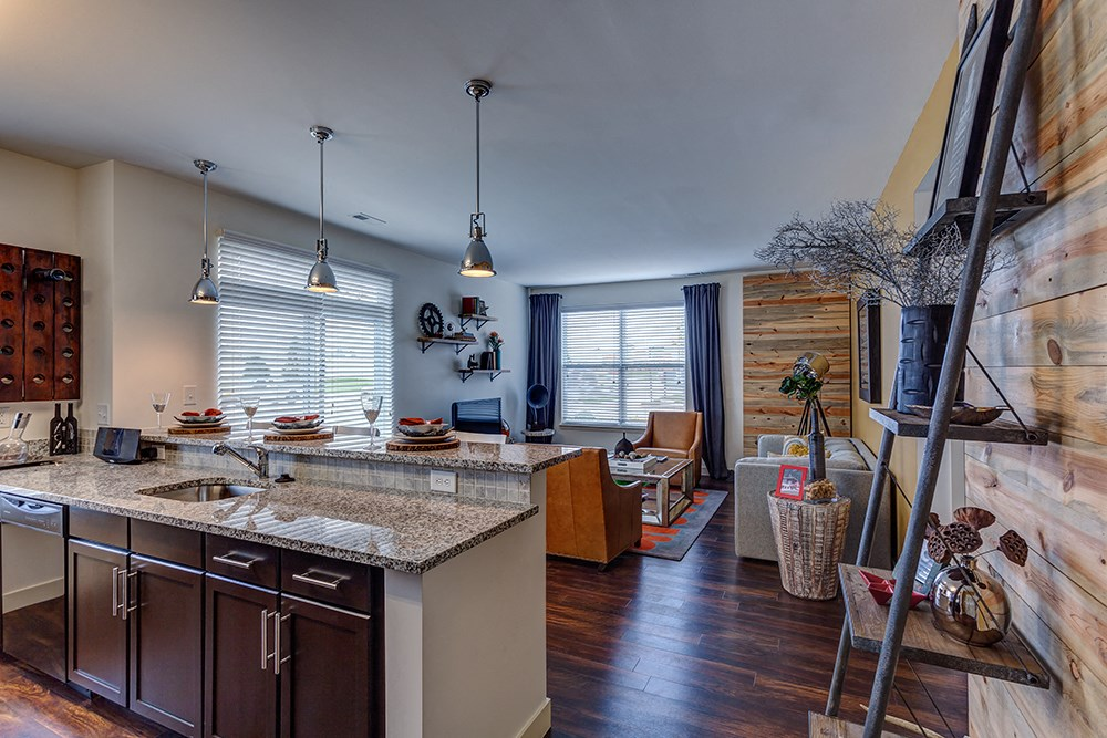 Open Living Spaces at Penn Circle Apartments in Carmel, IN