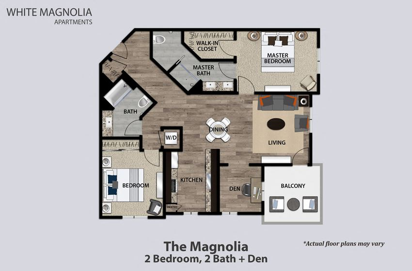 The Magnolia, 2 Bed 2 Bath With Den