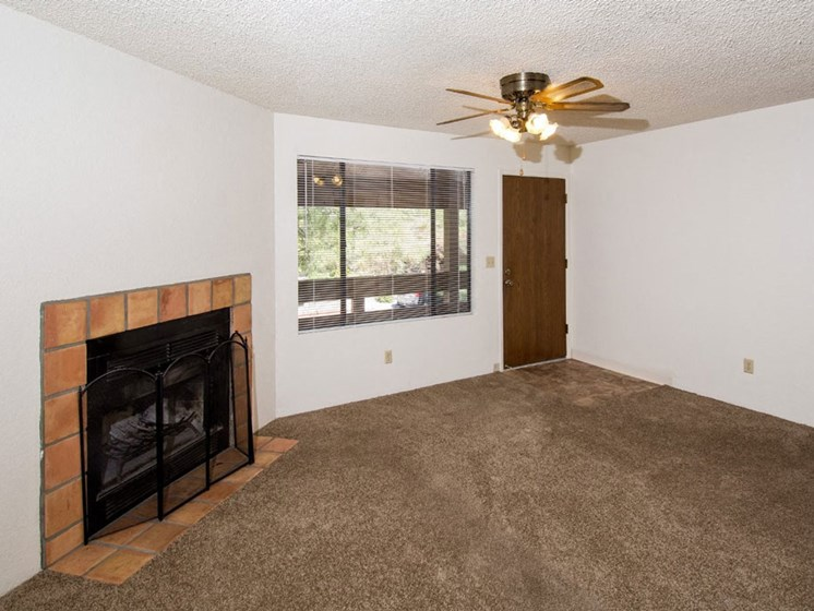 2 Bedroom - Living Room with Optional Fireplace
