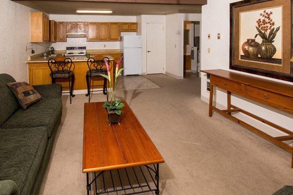 spacious living room  at Mountain View Villa Apartments, Cottonwood, AZ,86326