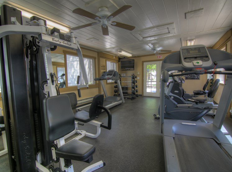 Fitness Center with Free Weights at Pine View Village Apartments, Flagstaff, AZ,86001