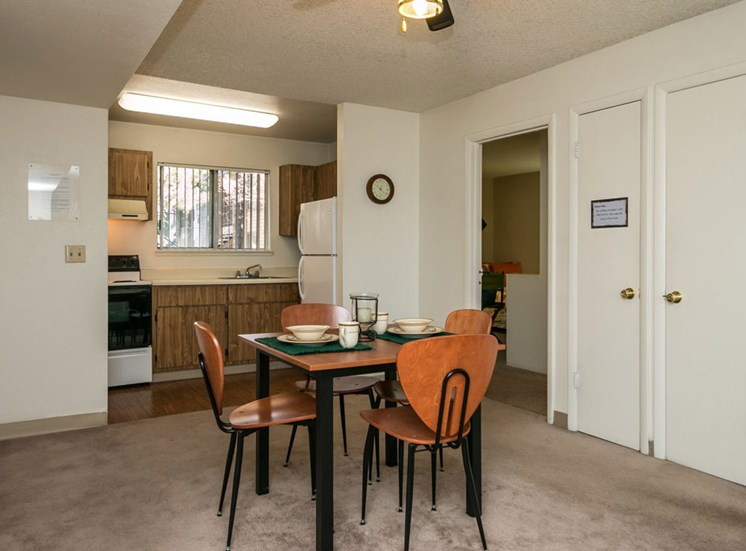 Rent by the Room Furnished Shared Dining Area