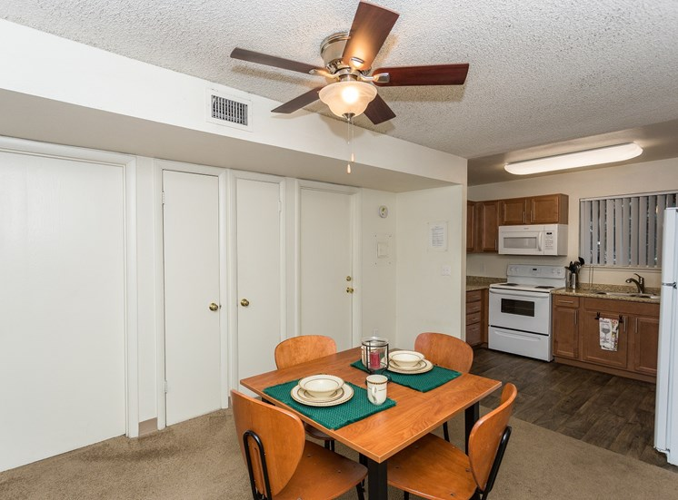 Pine View Village Rent by the Room Furnished Shared Dining Area