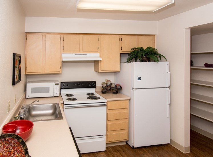 2 Bedroom Apartment Kitchen with Pantry