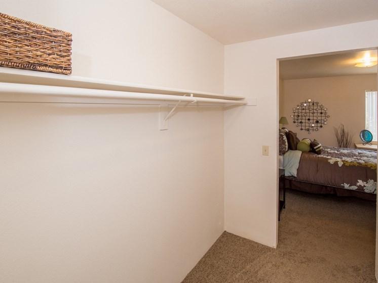 2 Bedroom Apartment Bedroom 2 Walk-Through Closet