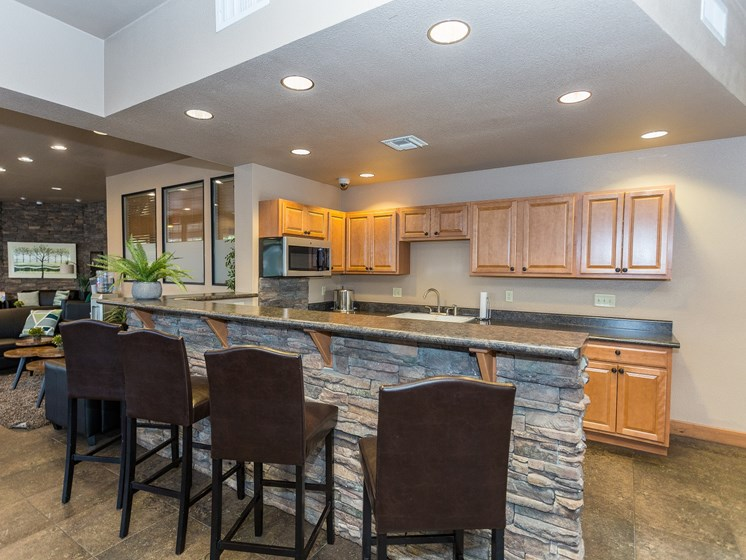 Highland Village Apartments Clubhouse Kitchen