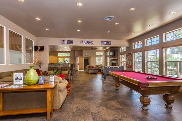 Clubhouse Pool Table and Foosball Table at Highland Village Apartments