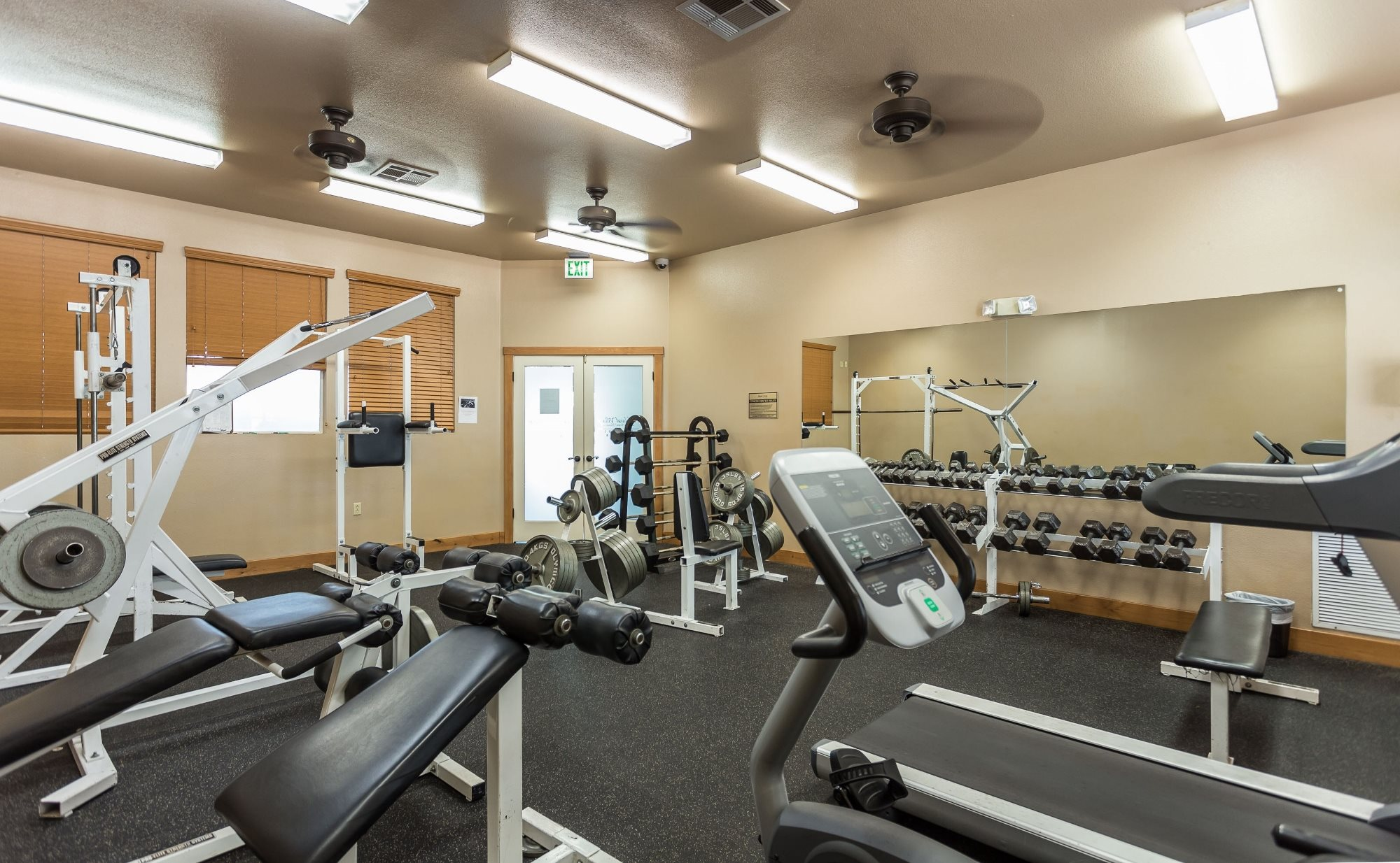 Fitness Center at Highland Village Apartments in Flagstaff, AZ