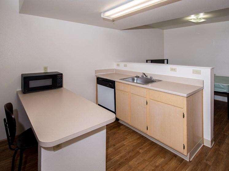 Studio Kitchen with Microwave