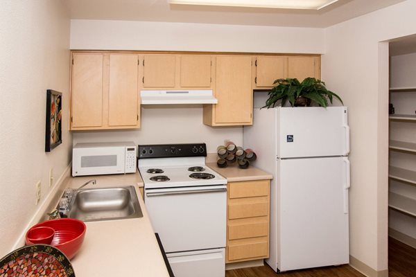 Kitchen at Highland Village Apartments in Flagstaff, AZ