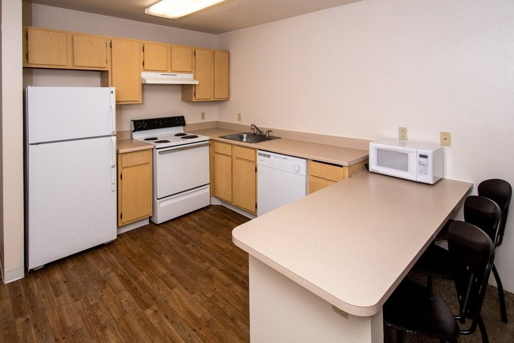 large kitchen at Highland Village Apartments in Flagstaff, AZ