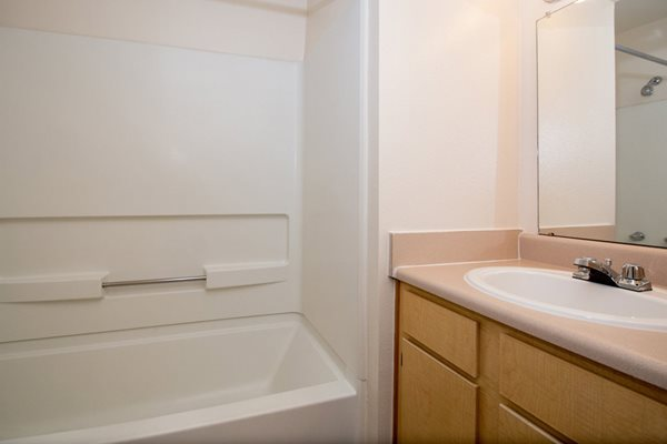 bathroom at Highland Village Apartments in Flagstaff, AZ