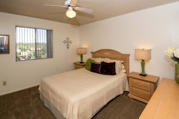 Bedroom with Great View at Country Club Vista Apartments, 5250 East Cortland Blvd, Flagstaff, AZ 86004