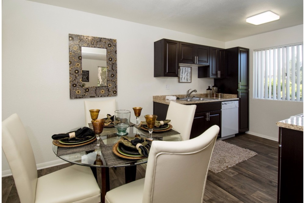 Open Kitchen with Separate Dining area at Country Club Terrace Apartments, 5404 East Cortland Blvd, Flagstaff, 86004