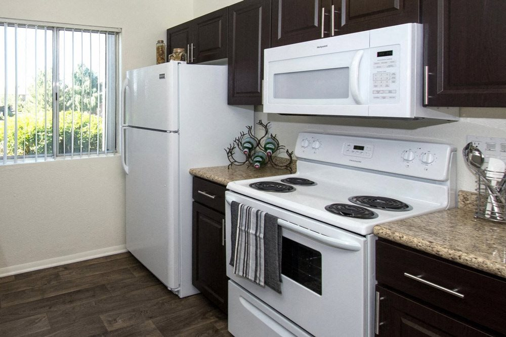 Refrigerator with Ice Maker at Country Club Terrace Apartments, 5404 East Cortland Blvd, Flagstaff, Arizona