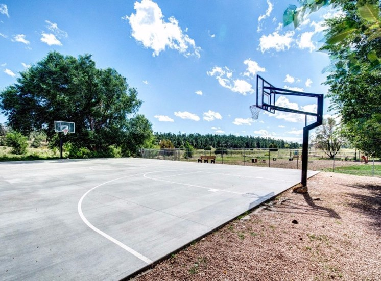 Open Basketball Court at Country Club Meadows Apartments, 5303 East Cortland Blvd, Flagstaff, 86004