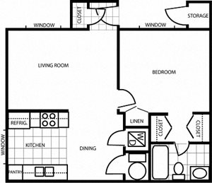 Country Club Meadows 1 Bedroom 1 Bath