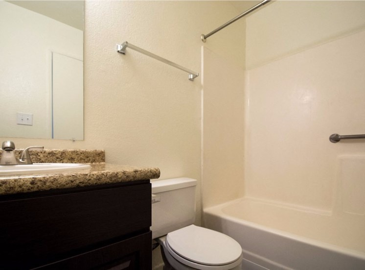 Designer Granite Counter tops in all Bathrooms at Country Club Meadows Apartments, Flagstaff, 86004
