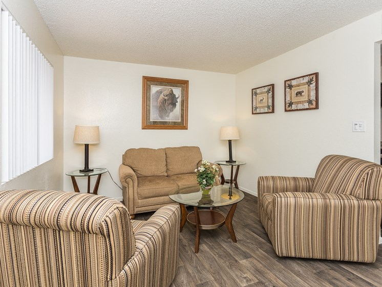 Country Club Meadows One Bedroom Apartment Living Room