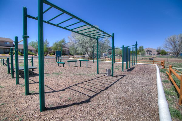 Outdoor Fitness Course at Country Club Meadows Apartments, Flagstaff, AZ