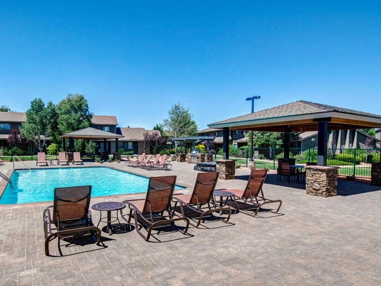Swimming Pool with Gazebo and BBQ Grill