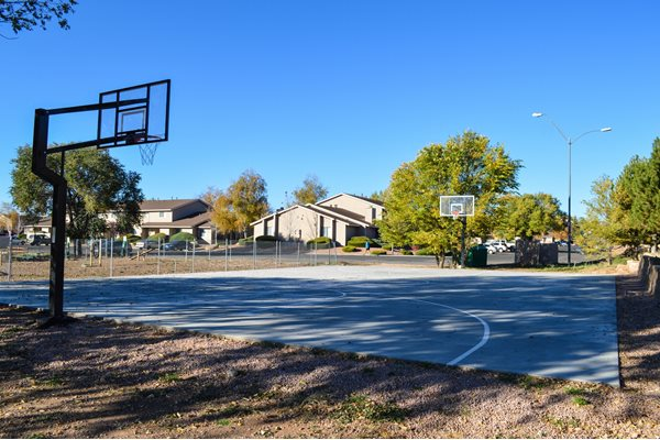 Full Outdoor Basketball Court at Country Club Meadows Apartments in Flagstaff, AZ