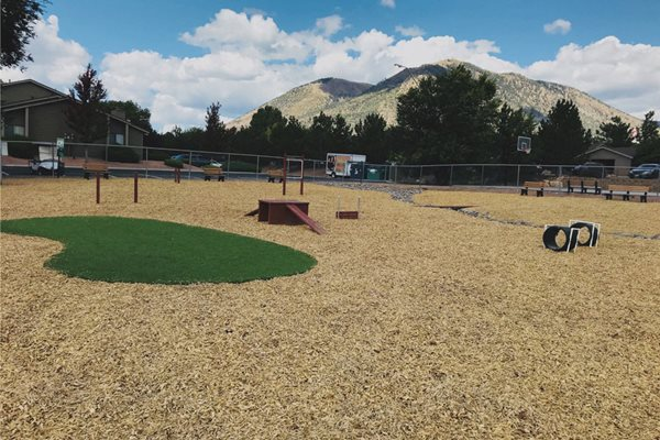 Dog Park Access at Country Club Meadows Apartments, 5303 East Cortland Blvd, Flagstaff, Arizona