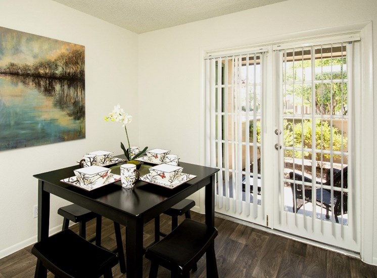 Townhouse Dining Room with French Doors