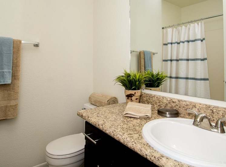 Townhouse Full Bathroom at Country Club Meadows Apartments in Flagstaff, AZ