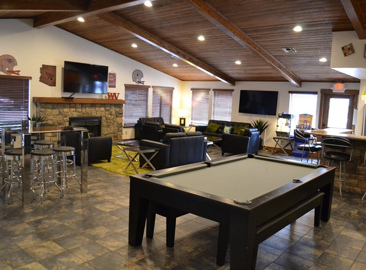 Woodlands Village Clubhouse with Pool Table