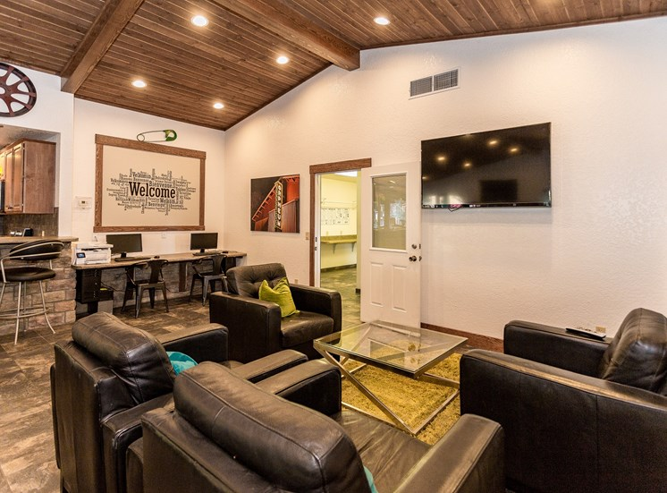 Woodlands Village Clubhouse with TV Lounge Area