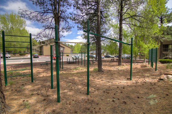 Outdoor Fitness Course at Woodlands Village in Flagstaff, AZ
