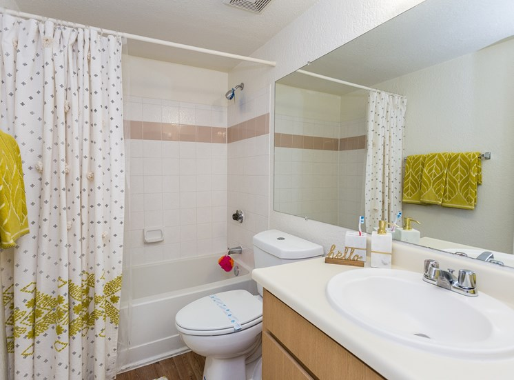 Woodlands Village Apartment Homes Studio Full Bathroom